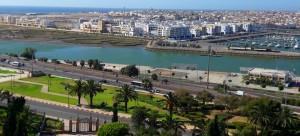 Vue sur les zones humides du Bouregreg