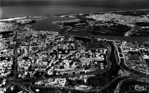 Vue generale aérienne de Rabat,Salé et le bouregreg