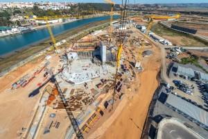 Travaux de chantier Grand Théâtre de Rabat